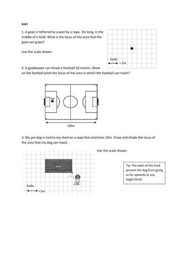 Loci Worksheet by fionajones88 - Teaching Resources - TES