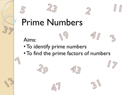 Prime Numbers Lesson By Fionajones88 Teaching Resources Tes