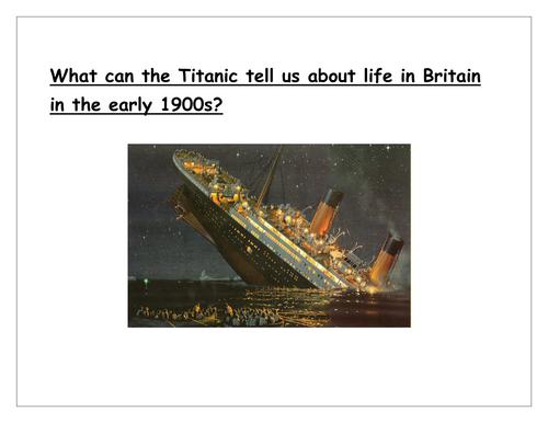 Titanic Scheme of Work