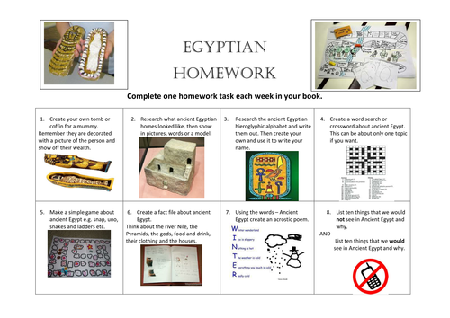 Ancient greece homework ideas