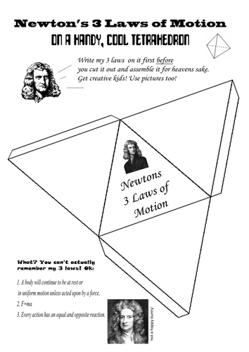 Newton's 3 Laws of Motion - Make a Tetrahedron