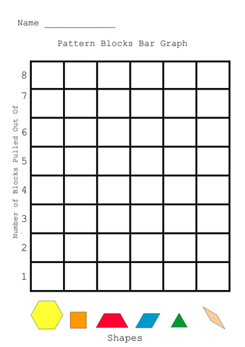Pattern Blocks Graph By Coralwalk Teaching Resources