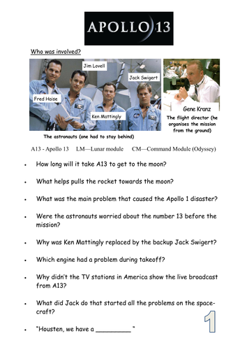 Worksheets Apollo 13 Worksheet Answers apollo 13 film worksheet by rajnag teaching resources tes
