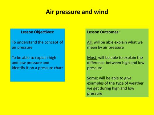 High and low air pressure by npapaspyrou - Teaching Resources - Tes