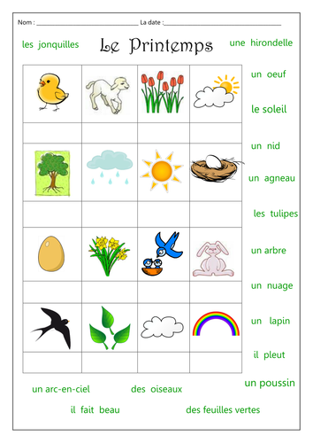 5 letter words ending in la le printemps by labellaroma teaching resources tes 16361
