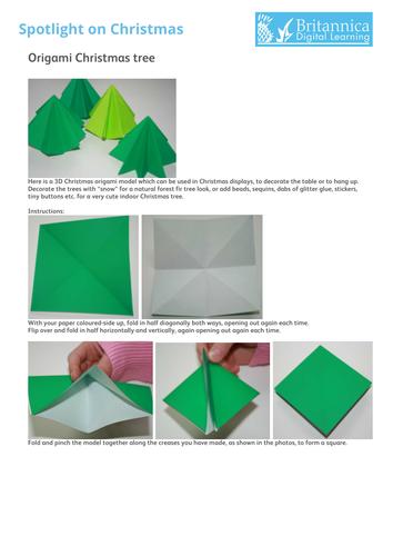 Origami Christmas tree (3D)