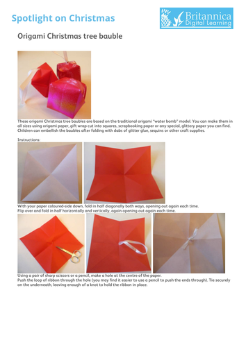 Origami Christmas tree bauble