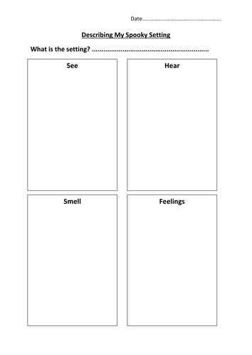Senses grid for describing settings by hannahw2 - Teaching ...