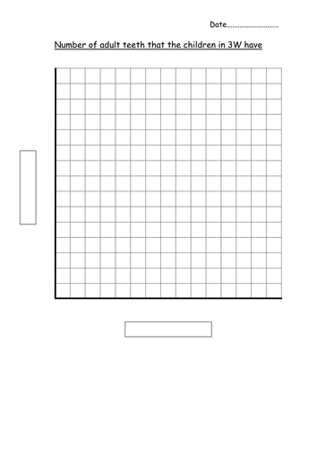 Blank bar graph template adult teeth by hannahw2 for Block graph template