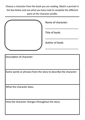 Year 3 Literacy Hw Character Profile Template 6196600 on Eric Carle Author Study