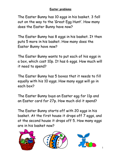 Easter Maths Activities by Johdu - Teaching Resources - Tes