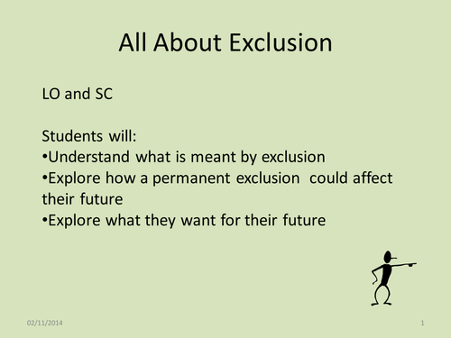 All About Exclusion