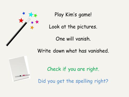 Kim's Game Phonics Phase 4