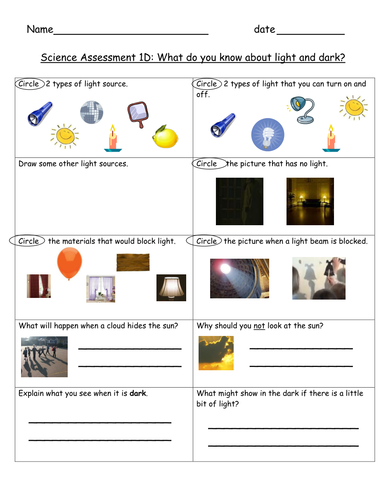light and dark child friendly assessment teaching resources. Black Bedroom Furniture Sets. Home Design Ideas