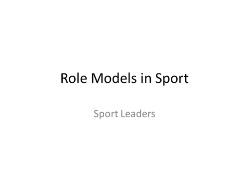 Are Footballers Good Sporting Role Models? Leaders