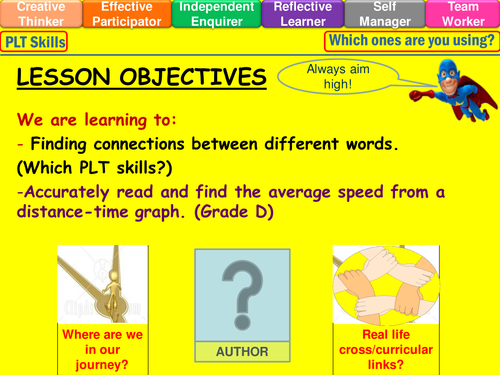 Distance-Time graphs lesson