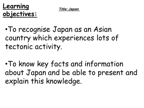 A general lesson about Japan