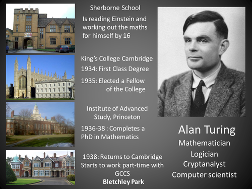 a biography of alan turing a british computer scientist Alan mathison turing (june 23, 1912 - june 7, 1954) was a british mathematician, logician, and cryptographer turing is often considered to be a father of modern computer science.