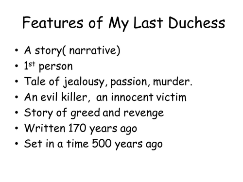 what is my last duchess about