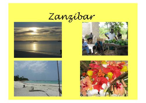Introduction to Zanzibar presentation (Welsh)