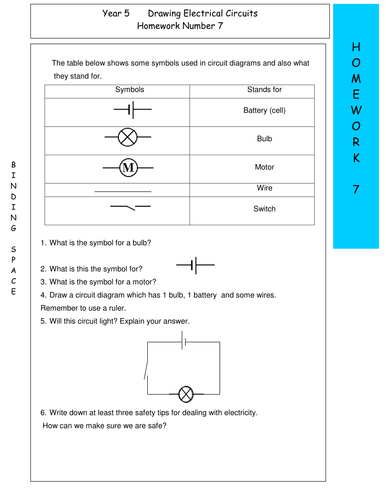 electric circuits homework 7 | teaching resources year 7 circuit diagrams  tes