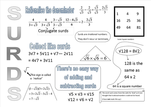 Gcse Surds And Indices Resources Tes