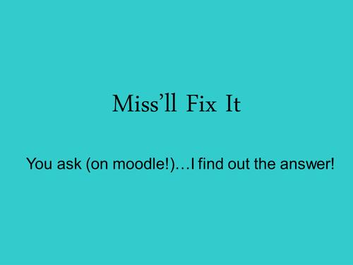 Miss'll Fix It