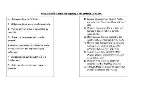 Topic Sentences By Marinalaing Teaching Resources Tes