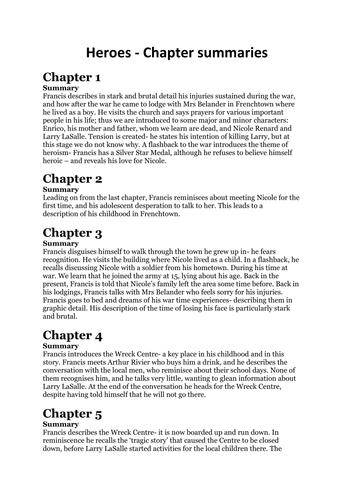 themes heroes robert cormier by hetherlouise teaching heroes by robert cormier chapter summaries