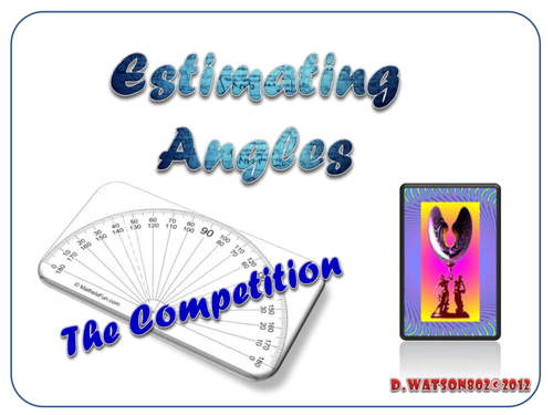 Estimating Angle Competition Starter / Plenary