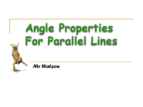 Angles with Parallel and Intersecting Lines