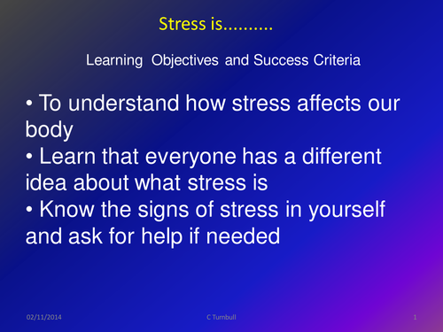 Stress is......