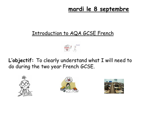 Introduction to AQA GCSE French