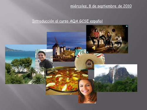 Introduction to AQA GCSE Spanish