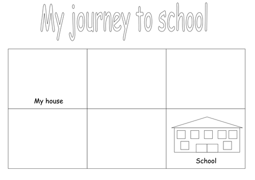 journey to school draw and label by lcdixon88 teaching resources tes. Black Bedroom Furniture Sets. Home Design Ideas