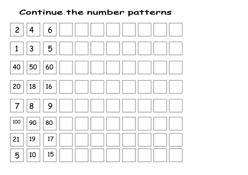 Continuing number sequences by lcdixon88 - Teaching Resources - Tes
