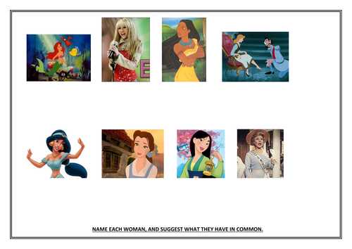 Disney characters and Feminism