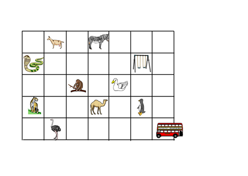 y1 and y2 zoo grid map for direction activities by indigo987 teaching resources tes. Black Bedroom Furniture Sets. Home Design Ideas