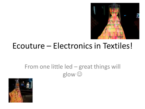 Electronics in textiles