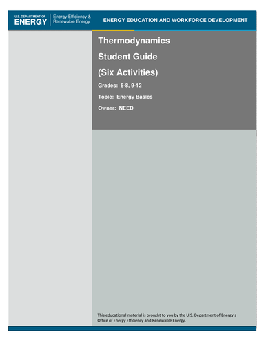 Thermodynamics Teacher and Student Guides