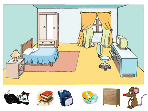 using prepositions in the bedroom by emle 86 teaching resources