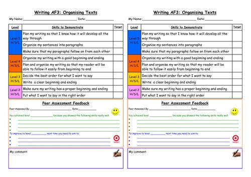 WRITING APP Self / Peer Assessment a