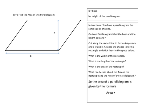 Area perimeter of quadrilaterals and triangles by sbinning – Area of Triangles and Quadrilaterals Worksheet