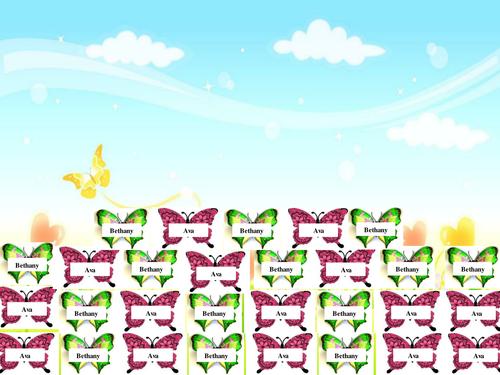 Butterfly Self registration IWB activity