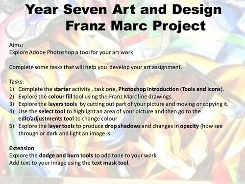 Franz Marc Composition using Photoshop