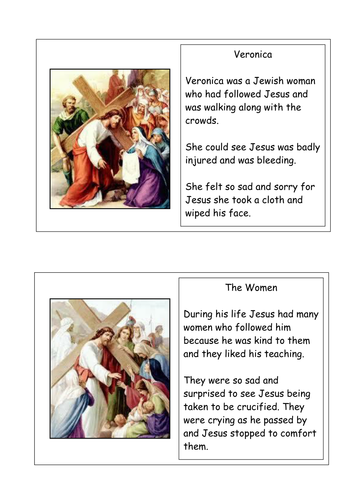 Stations of the cross character profiles