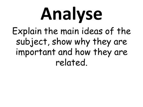 Exam Command Words