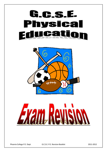 GCSE PE Exam Revision booklet - Part 1 by beachman0274 ...