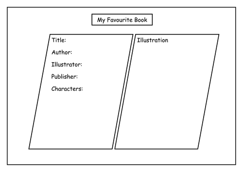 essay on my favorite book co my favourite book by lbrowne teaching resources tes