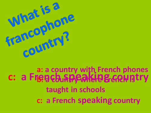 J'habite - Francophone